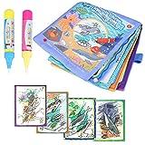 Hztyyier Malbücher Zauberstift Wiederverwendbare, Magisch Wasser Zeichnen Tuch Buch mit 2X Zeichnung Stift Kinder früh Lernen Spielzeug (#1)