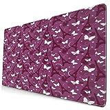 HUAYEXI Alfombrilla Gaming,Impresión de Mariposas abstractas de Eiffel,con Base de Goma Antideslizante,750×400×3mm
