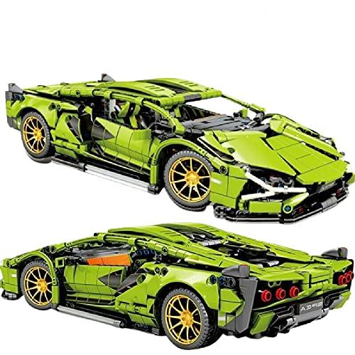 1254pcs Racing Building Blocks Supercar verde (Compatible con Lego, pero no incluye Lego)
