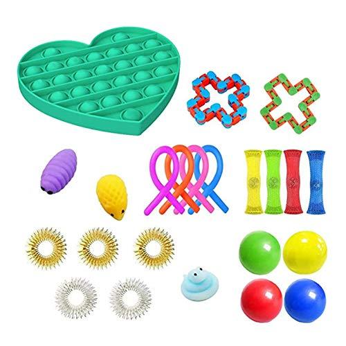 voloki Sensory Fidget Toys Set Stress abbauen Spielzeug Stress und Angst lindern Spielzeug Bundle für Kinder Erwachsene