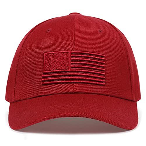 WAZHX Gorra De Béisbol con Bandera De EE. UU. para Hombres, Mujeres, Águila, Papá, Hueso, Al Aire Libre, Informal, para El Sol, Gorra De Golf, Gorra De Camionero, Rojo Vino