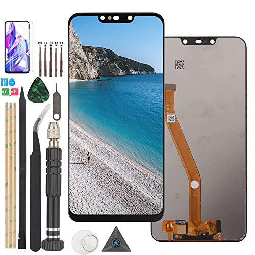 RongZy para Huawei P Smart Plus P Smart(2018) Nova 3i LCD+Pantalla Táctil Digitalizador Asamblea Reemplazo +Reparación Herramientas(Negro)
