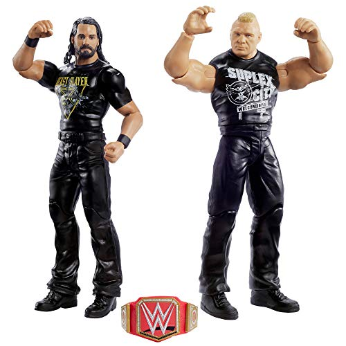 WWE GLB24 - Action Figuren 2er-Pack (15 cm) Seth Rollins & Brock Lesnar, Spielzeug ab 6 Jahren