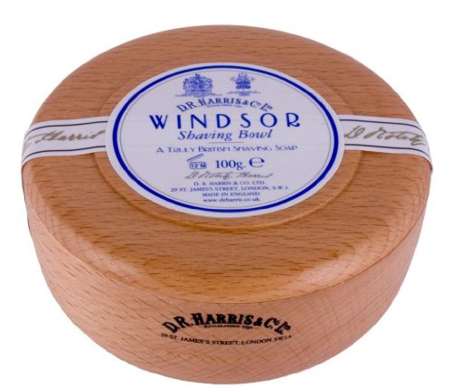 D. R. HARRIS Windsor Beech Shaving Bowl & Shaving Soap