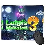 LUIGI'S MANSION 3 alfombrillas de ratón para ordenadores, decoración de escritorio, alfombrillas antideslizantes para ratón, ordenadores portátiles