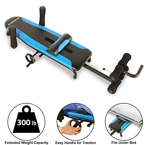 Exerpeutic 100 Back Stretch Traction Table Inversion Table Alternative with 300 lbs Weight...