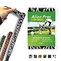 Alien Pros ゴルフラッピングテープ(12個セット)超平面 - 革新的なゴルフクラブグリップソリューション-1分以内に、新しいグリップに生まれ変わります。