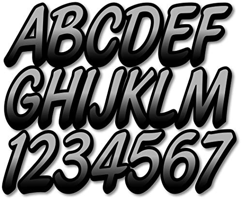 STIFFIE Waveline Electric Green 3 Alpha-Numeric Registration Identification Numbers Stickers Decals for Boats /& Personal Watercraft FBA/_WV10