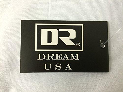 Dream USA Men's Casual 3/4 Sleeve Baseball Tshirt Raglan Jersey Shirt White/Red Large