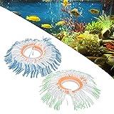Decoraciones de plantas de anémona de simulación, anémona variada suave y cómoda con electricidad estática para decoración de acuario Reemplazo para acuario