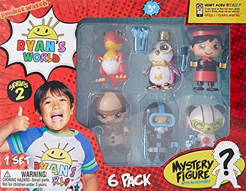 Ryan's World Juego de 6 Figuras coleccionables, Multicolor