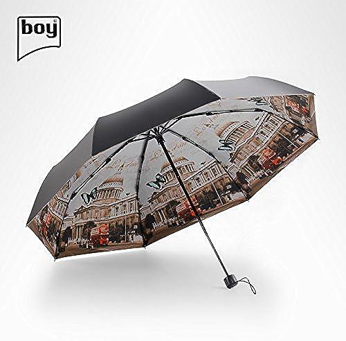 YFF@ILU Cadeau amoureux parasols parasols en caoutchouc noir UV ultra-léger petite noir umbrella girl B