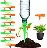 Set Irrigazione Goccia Automatica,con Valvola di Controllo a Rilascio Lento, 15 Pezzi Kit ...