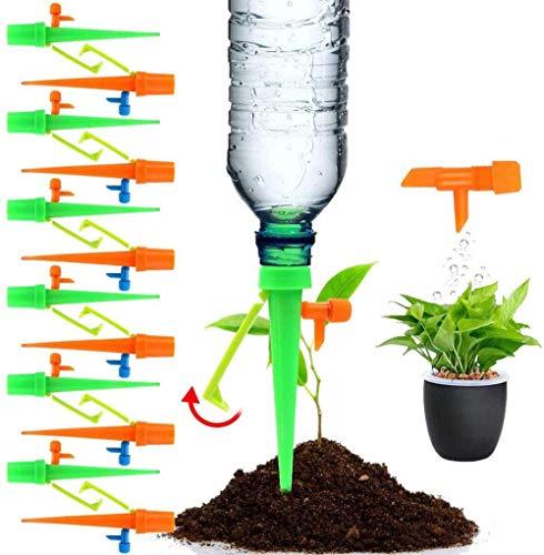 Set Irrigazione Goccia Automatica,con Valvola di Controllo a Rilascio Lento, 15 Pezzi Kit Irrigazione a Goccia Automatica per Piante,Fiori, Bonsai, Irrigatore Domestica, Automatica e Scientifica