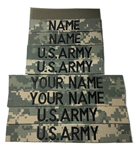 4 pieces ACU Name Tape & US Army Tape (without Fastener)