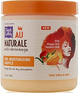 Dark and Lovely AU Naturale Anti-Shrinkage Coil Moisturizing Souffle 14.40 oz (Pack of 3)