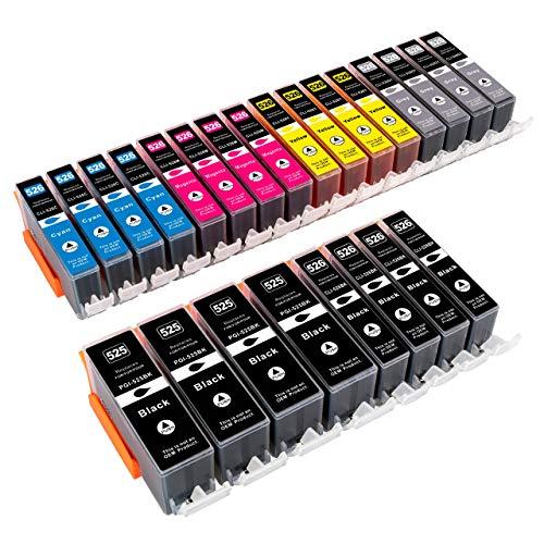 ESMOnline 24 komp. Druckerpatronen als Ersatz für Canon PIXMA MG 6100 6150 6200 6250 8100 8150 8200 8250