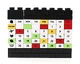 Besondere Building Block Puzzle Kalender Ewiger Kalender Schwarz