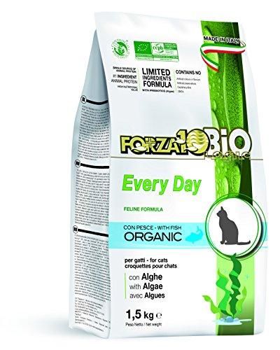 Forza10 Every Day Pesce et algue (goût Poisson) - Nourriture sèche Bio pour Chat - 1 Paquet (1 x 1,5 kg)