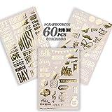 Gold Scrapbook Stickers, Scrapbooking Supplies, Journaling...
