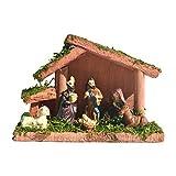 Raspbery Escenas de Mesa de la Natividad Nacimiento de Jesús Adorno religioso para la decoración de Vacaciones Escena Tradicional de la Natividad Artesanía de Resina fit