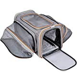 PUPPY KITTY Pet-U Version Plus Épaisse Sac De Transport pour Chat Et Petit Chien Extensible 2 Voies Extensible Doux Côté Sac Souple Et Pliable pour Voyage en Avion/Voiture/Train 44.5x33x28cm