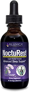 NoctuRest Natural Sleep-Aid with Valerian and Melatonin - All-Natural Liquid Formula for 2X Absorption - Magnesium, L-Thea...