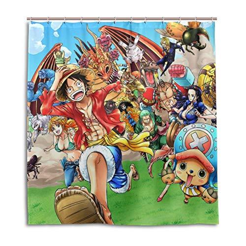 zhengdengshuibaihuodian Anime One Piece Die Strohhut Piraten Bad Duschvorhang Wasserdichtes Gewebe Duschvorhänge
