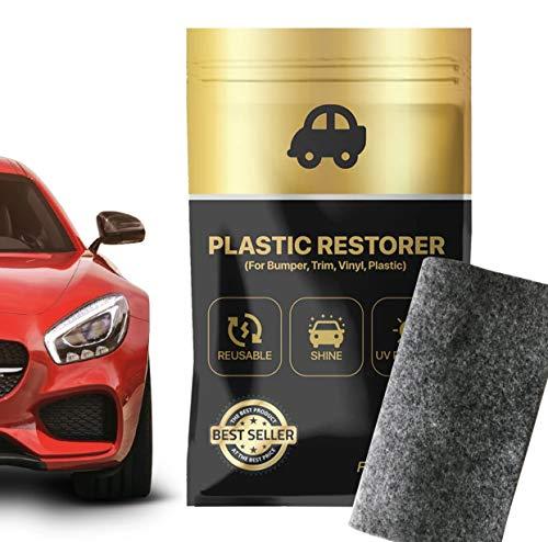JGR Select Restaurador de Plasticos Exterior Coche - 2 Unidades - Renovador de Plásticos Negros para Exteriores - Cuidado de Parachoques, Espejos, Molduras