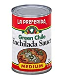 La Preferida Mexican Foods Green Chile Enchilada Sauce, Medium | Salsa de Chile Verde para Enchiladas | 10 OZ (Pack of 12)