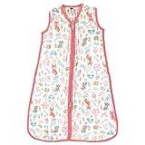 Hudson Baby Unisex Muslin Cotton Sleeveless Wearable Sleeping Bag, Sack, Blanket, Woodland Fox, 18-24 Months