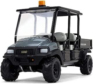 Club Car Carryall 1700 4x4 with Tilting Box Dark Gray/ Black 1/34 Diecast Model by First Gear