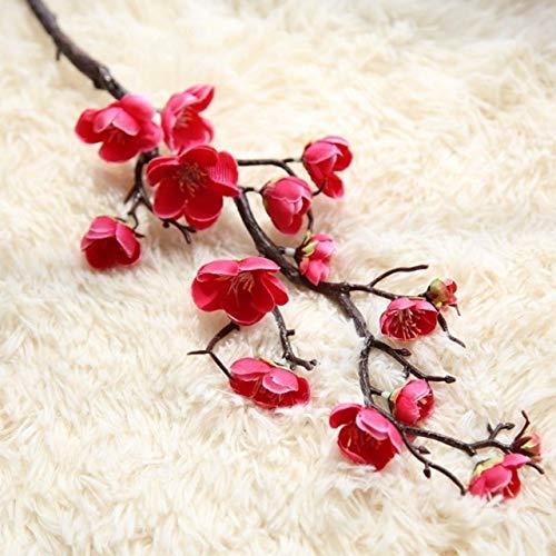 Flores Artificiales Ciruela de cerezos en Flor de Flores Artificiales Flores Ramas de los árboles de Sakura Mesa Principal Sala de Estar decoración de la Boda de la decoración DIY
