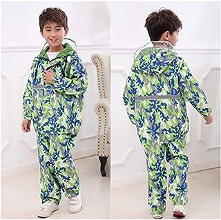 xingguang Impermeable para niños de camuflaje impermeable impermeable impermeable impermeable para niños (color: otro, tam...