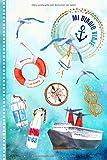 Mi Diario de Viaje: El Crucero Libro de Registro de Viajes Guiado Infantil - Cuaderno de Recuerdos de Actividades en Vacaciones para Escribir, Dibujar, Afirmaciones de Gratitud para Niños y Niñas