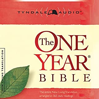 The One Year Bible NLT audiobook cover art