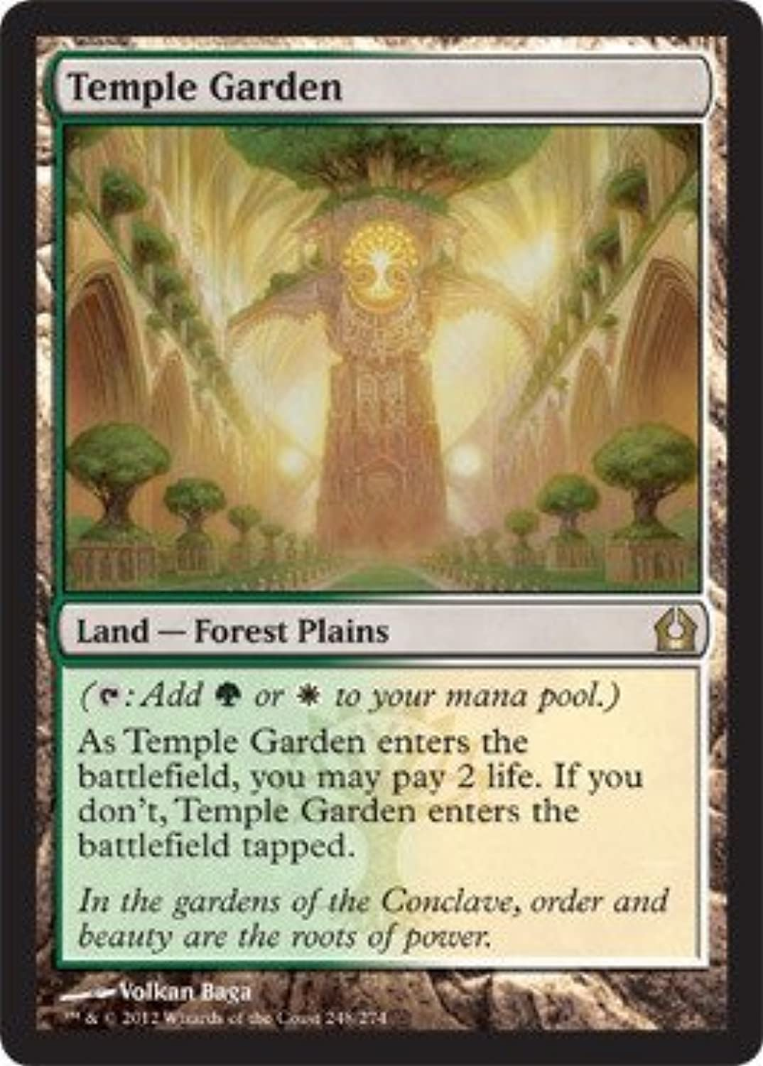 oferta especial Magic  the Gathering - Temple Garden Garden Garden (248) - Return to Ravnica - Foil by Magic  the Gathering  alto descuento