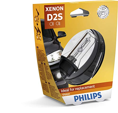 Philips 85122VIS1 Xenon Vision - Bombilla (D2S, xenón, 1 unidad)