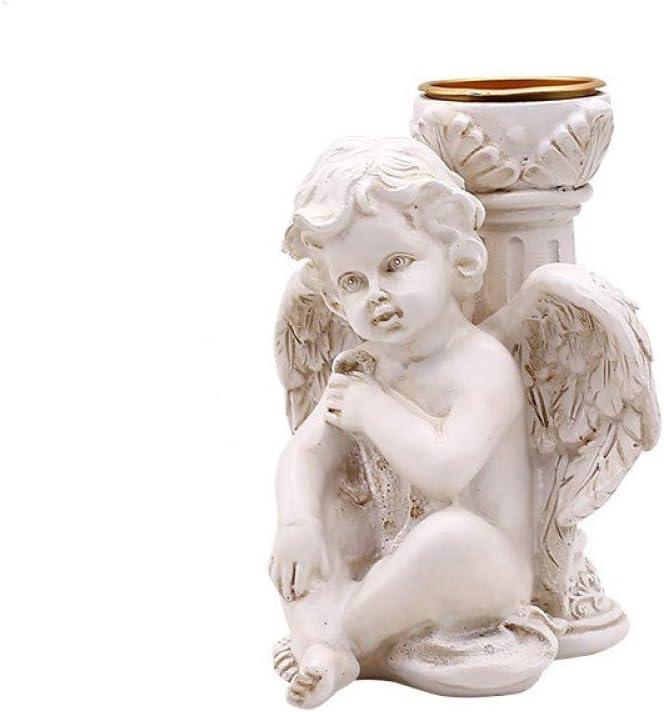 Nordic Resin Retro Angel Figure Holders Romantic Fees free Candle Wedding quality assurance