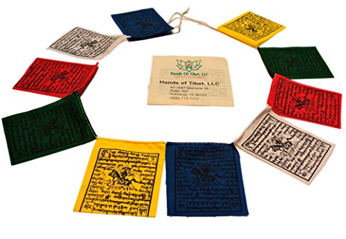Mini Wind Horse Tibetan Prayer Flags From Nepal Set of 10 Flags