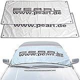 PEARL Scheibenabdeckung Auto: 2er-Set Auto-Sonnenschutz- & Anti-EIS-Folien, reflektierend (Auto-Eisschutz)