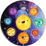 Bubble Fidget Toys, Eight Major Planets Pattern Sensory Toys,Early Education Sensory Brain Development Simple Dimple,Stress Relief Anti-Anxiety ADHD Fidget Toy(Blue)