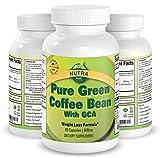 Puro Extracto de Grano de Café Verde, el Suplemento Dietético Presentado en el Famoso Programa de TV Dr. Show, el Mejor Inhibidor de Apetito y Suplemento de Pérdida de Peso para Quemar Grasa, Máxima Potencia, Producido en UK – 800 mg, 60 cápsulas