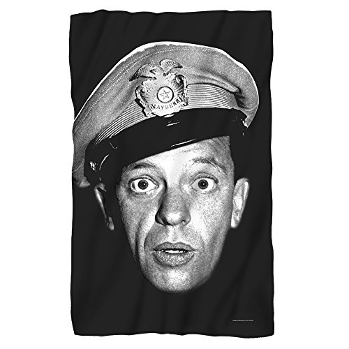 Trevco Andy Griffith Show Barney Head Fleece Blanket (36x58)