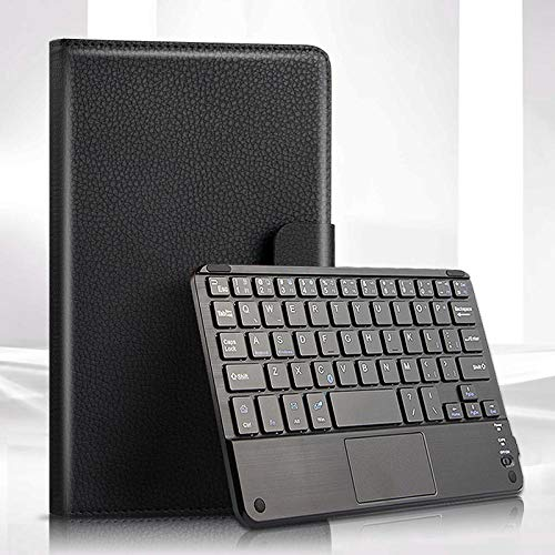 MENGYI Bluetooth keyboard for tablet Wireless Bluetooth Keyboard Case For Sg Galaxy Tab A 8.0 2019 T290 T295 Tablet Case Stand Funda Cover For SMT290 SMT295 keyboard case (Color : Black)