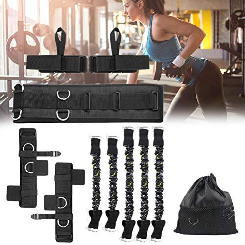 SHARRA Conjunto de Bandas de Fitness, Bandas de Resistencia, Entrenamiento de Boxeo, Correa de Estiramiento, cómodo y Suave cinturón de Entrenamiento para piernas, Fitness, Entrenamiento de Fuerza
