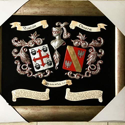 Escudo heráldico en relieve con esmalte tamaño, 55 x 65 cms. Puede i