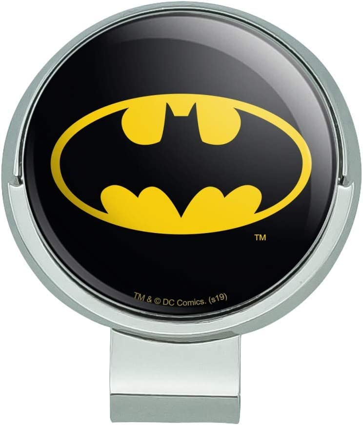 GRAPHICS MORE Batman Long Beach Mall Classic Bat Shield Over item handling Hat wit Logo Clip Golf