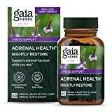 Best Adrenal Supports - Gaia Herbs Adrenal Health Nightly Restore, Vegan Liquid Review