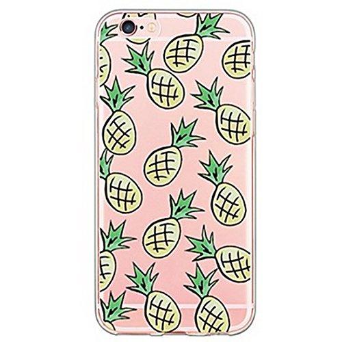 SecondDromi Viele der süßen Ananas Muster auf einem transparenten Hintergrund Silikon hülle für iPhone 5S,für iPhone SE,Gelb